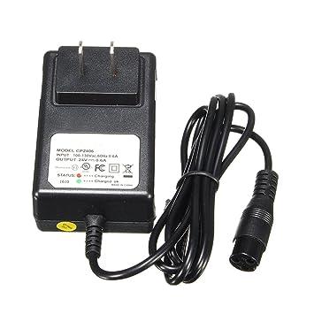 JINHUGU 24V 0.6A 3-Prong Cargador de batería para Razor E100 ...