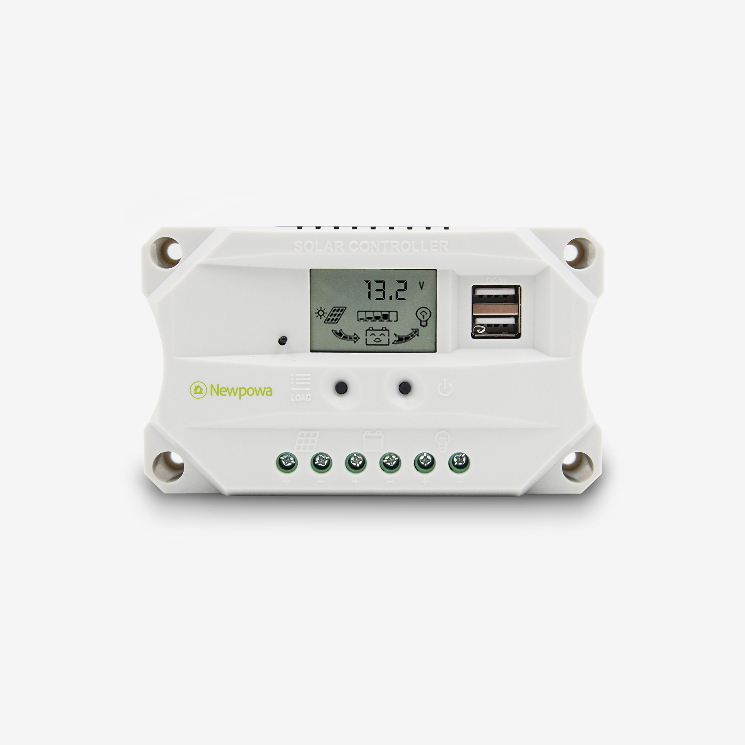 Newpowa 60w Watt 12v Solar Panel + PWM 10A 12V Charge Controller USB Regulator by Newpowa