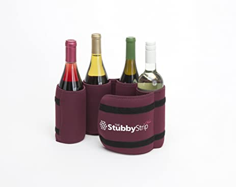 The StubbyStrip VINO: Portable Insulated Drink Carrier With Shoulder Strap,  Neoprene, Holds 1