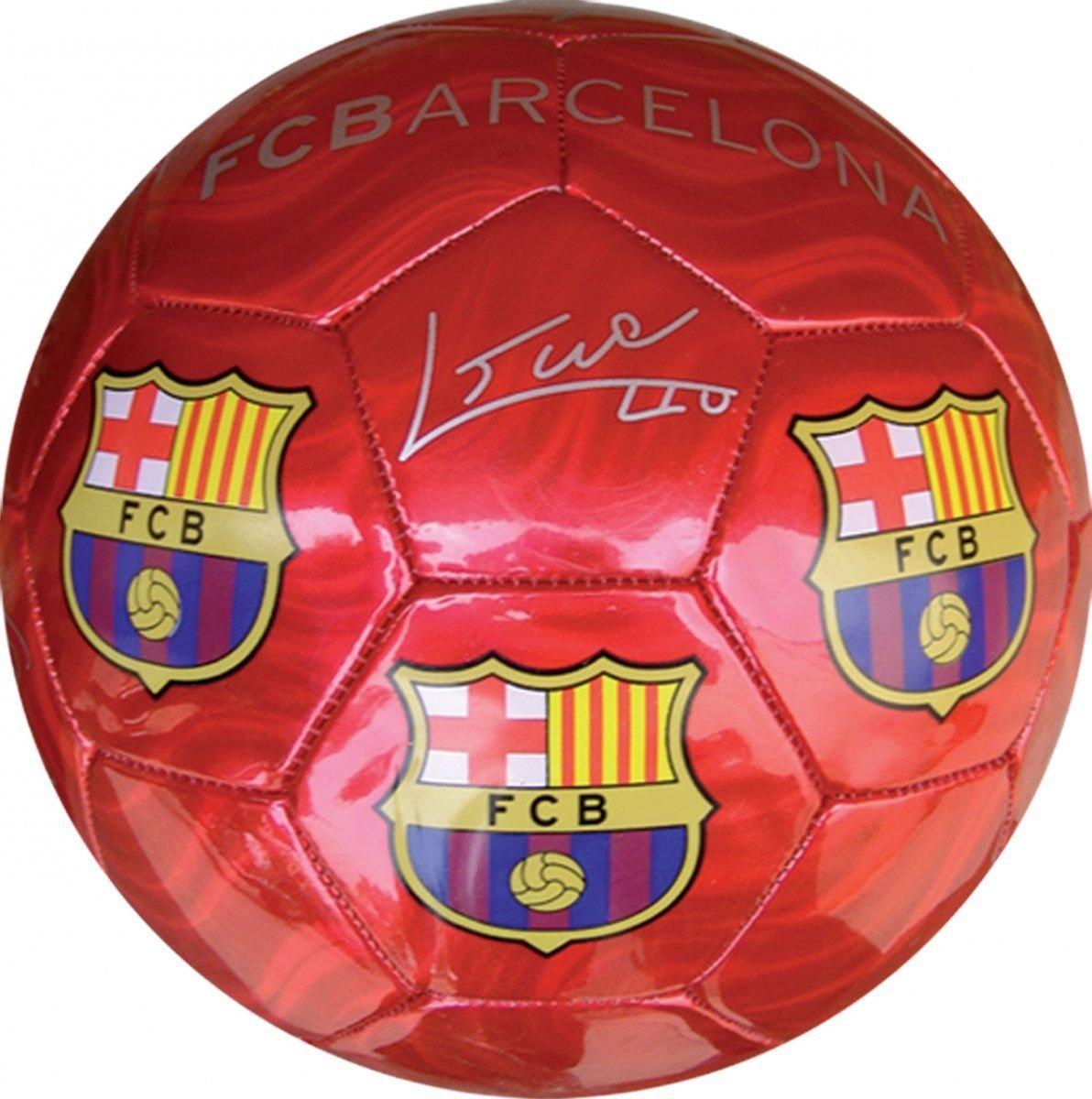 FCバルセロナサッカーボールMediumサイズ2レッド B011DOROJ6