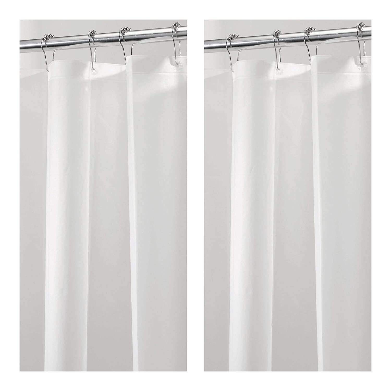 MDesign Extra Wide Waterproof Mold Mildew Resistant Heavy Duty PEVA Shower Curtain Liner For Bathroom
