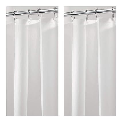 MDesign Waterproof Mold Mildew Resistant Heavy Duty PEVA Shower Curtain Liner For Bathroom
