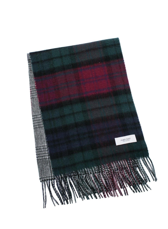 Green X Red 100% Cashmere Reversible Scarf Muffler Men Gift Scarves Wrap Blanket C0421B1-4