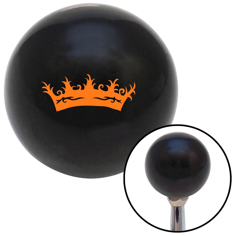 Orange Prince Crown American Shifter 104635 Black Shift Knob with M16 x 1.5 Insert