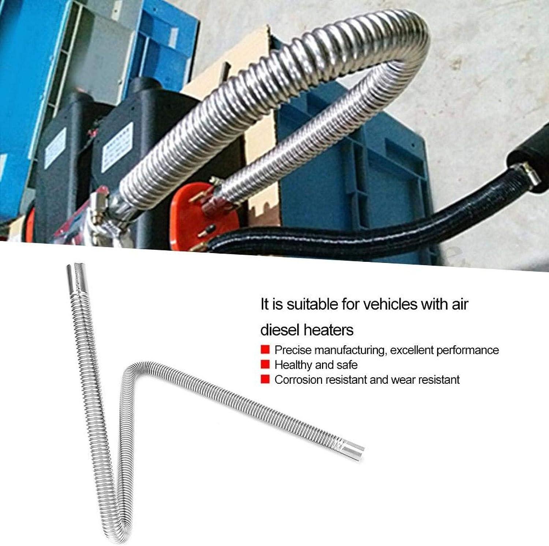 Manguera de ventilaci/ón de aire Tubo de escape Calentador de aire de estacionamiento Manguera de ventilaci/ón de gas diesel 120 cm Inoxidable