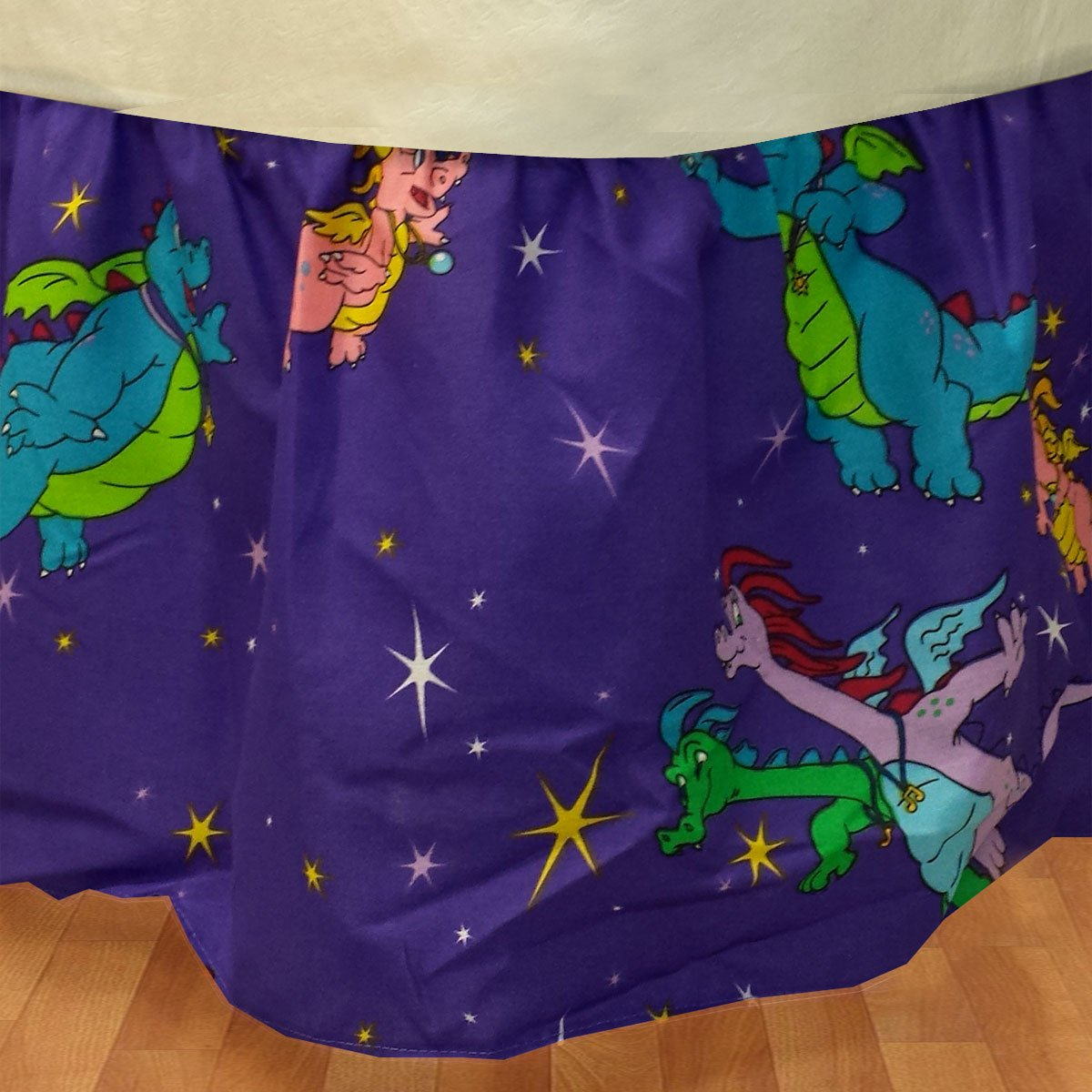 Dragon Tales Twin Bedskirt Cartoon Dragons Bed Accessory Dan River