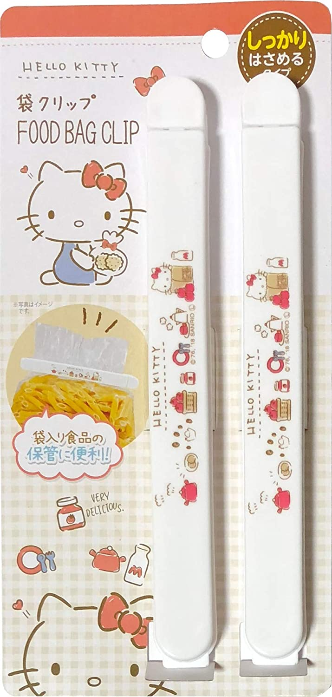 Sanrio Hello Kitty Plastic Sealing Clips Food Snack Bag 17.3cm 2pcs set Kitchen (Long)
