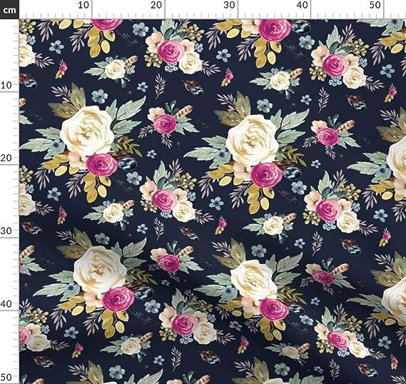 Floral Jersey De Algodón Lycra