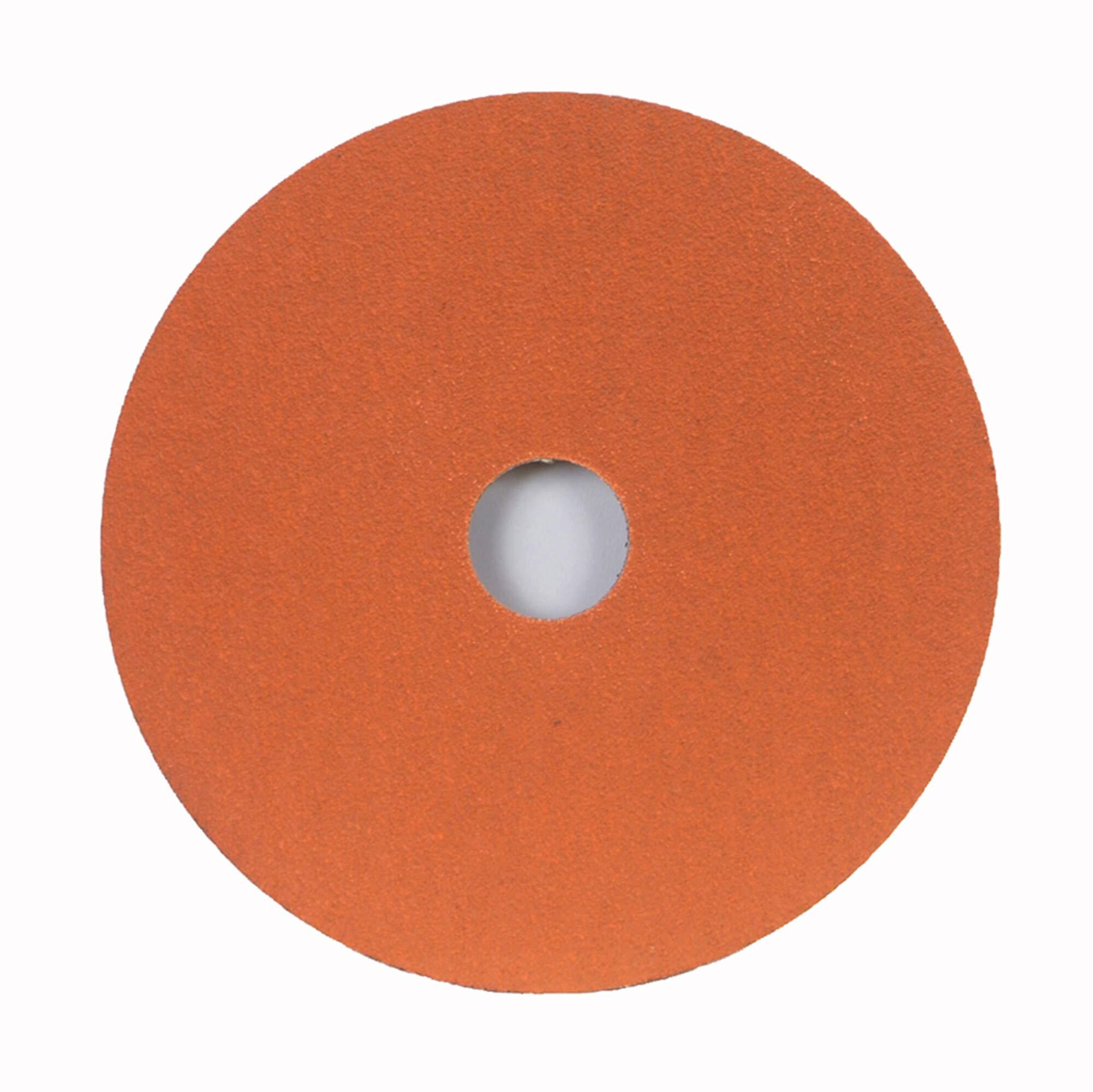 Norton SG Blaze F980 Abrasive Disc, Fiber Backing, Ceramic Aluminum Oxide, 7/8'' Arbor, 5'' Diameter, Grit 80 (Box of 25)