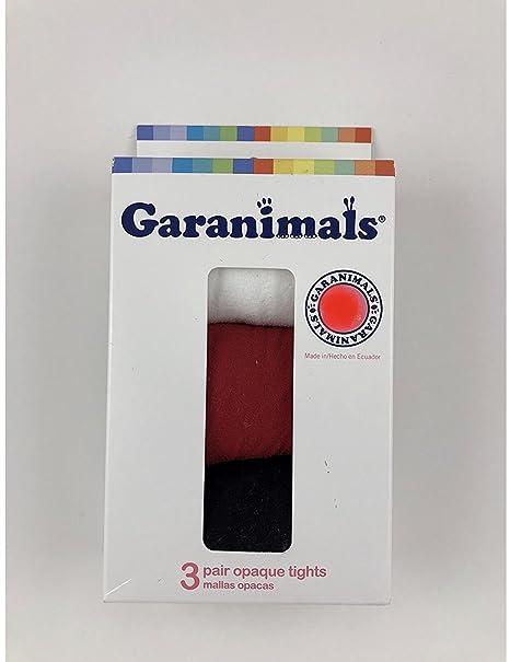 9dfaea5ff79c7 Amazon.com: GARANIMALS 3 PAIR OPAQUE TIGHTS, SIZE 18-36MONTHS(WHITE/RED/ BLACK): Clothing