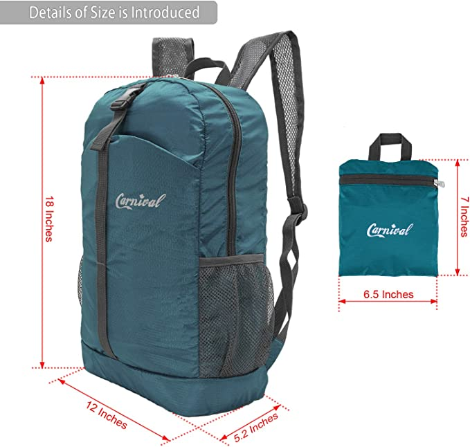 Small Handy Foldable Water Repellent Camping Outdoor Backpack KINTONG Ultra Lightweight Packable Backpack Hiking Daypack