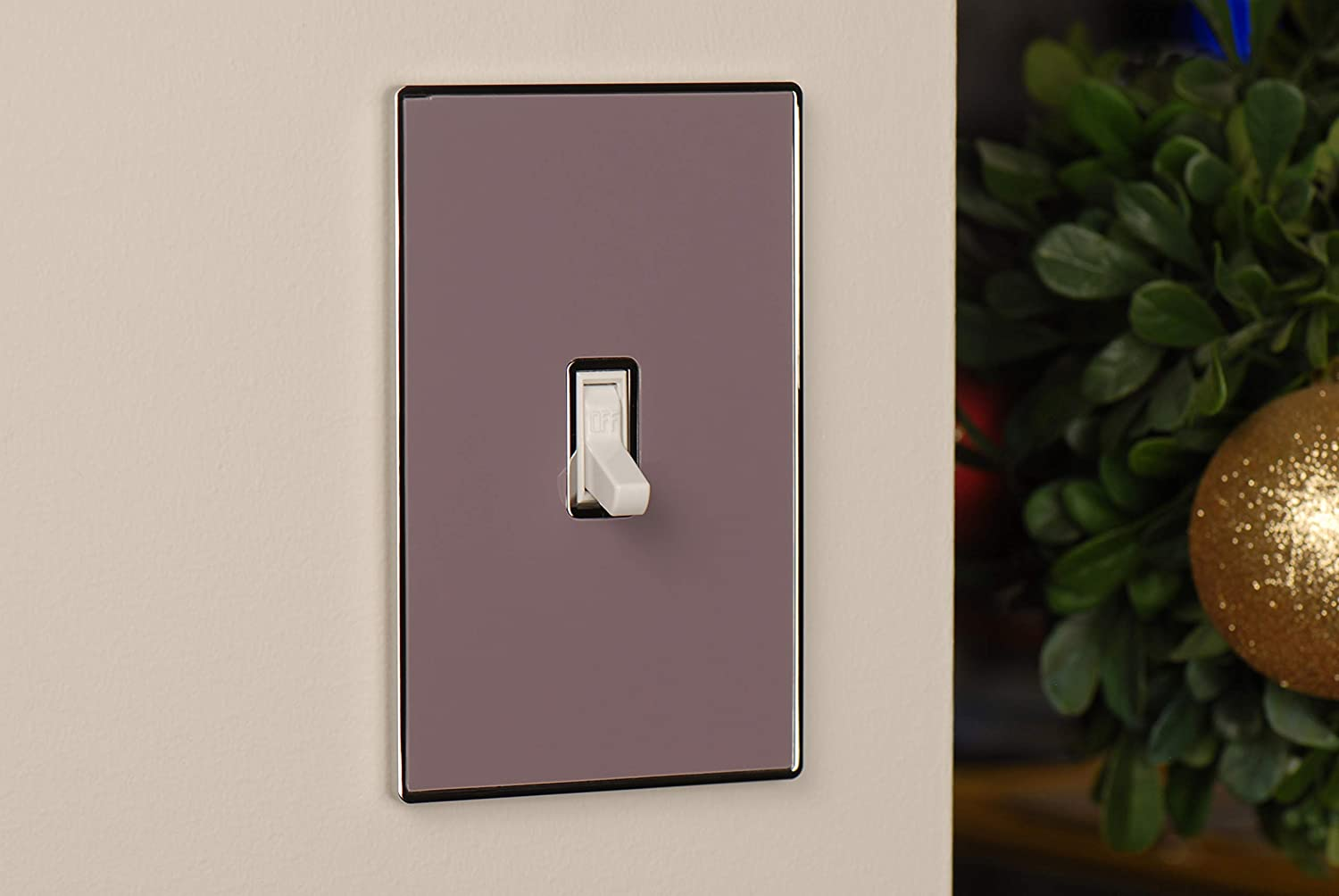 Urban Chameleon Premium 1 Gang Toggle Light Switch Covers Wallplate Switch Plate Mauve Switch Plates Amazon Canada