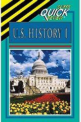 U.S. History I (Cliffs Quick Review) Paperback
