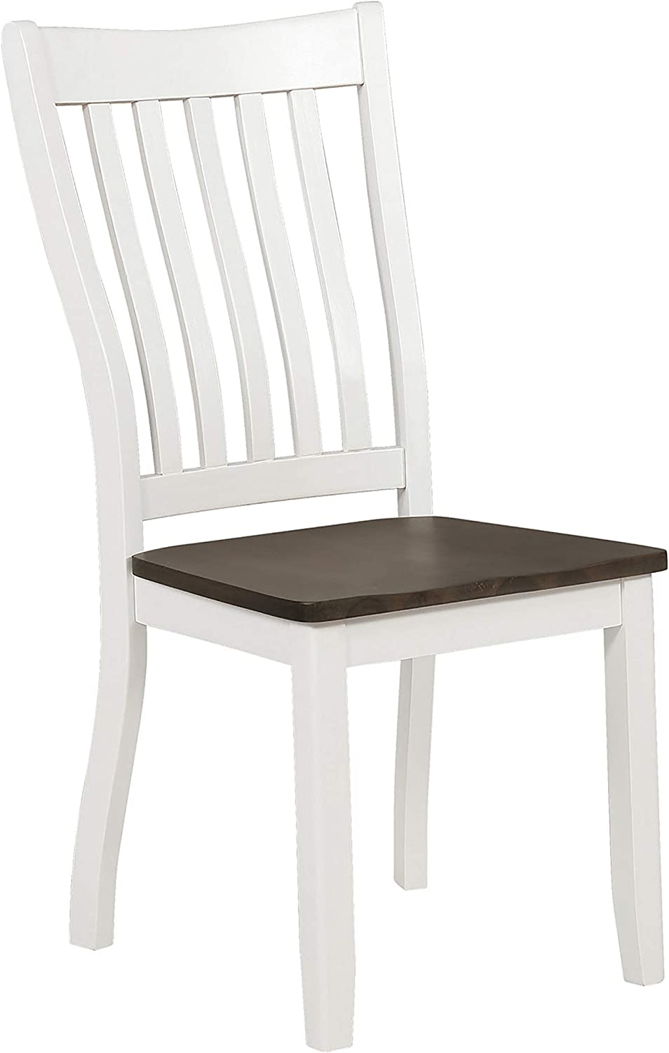 Coaster Home Furnishings Kingman Slat Back Espresso and White (Set of 2) Dining Chair