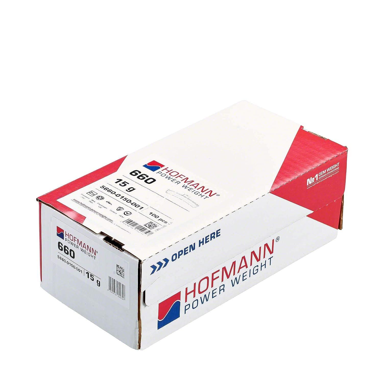 100er pack Hofmann Power Weight Typ660 5660-0150-001 silber 15g Schlaggewicht