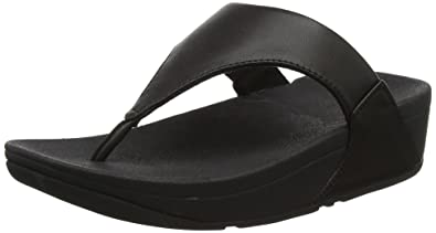 a96b780c806ba Fitflop Women s Lulu Leather Toepost Thong Sandals  Amazon.co.uk ...
