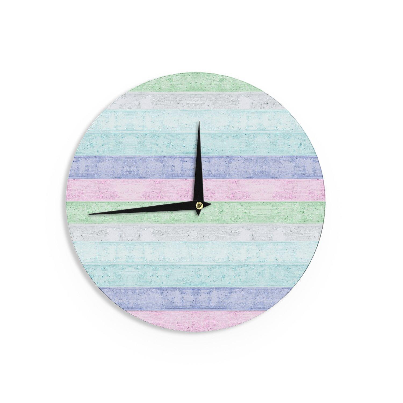 Kess InHouse Monika Strigel Beach Wood Pastel Wall Clock 12-Inch