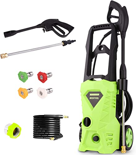 Homdox Power Washer 2600 PSI Electric Pressure Washer 1.6 GPM High Pressure Washer with Power Nozzle Gun and Spray Gun for Car, Garden, Patio