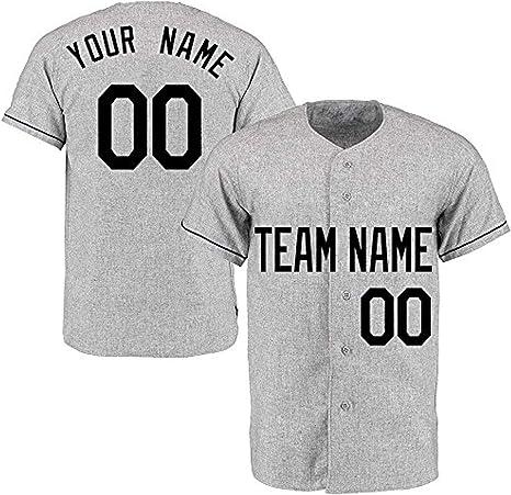 YNMYS - Camiseta de béisbol para Hombre, diseño del Equipo de béisbol, Color Gris: Amazon.es: Deportes y aire libre