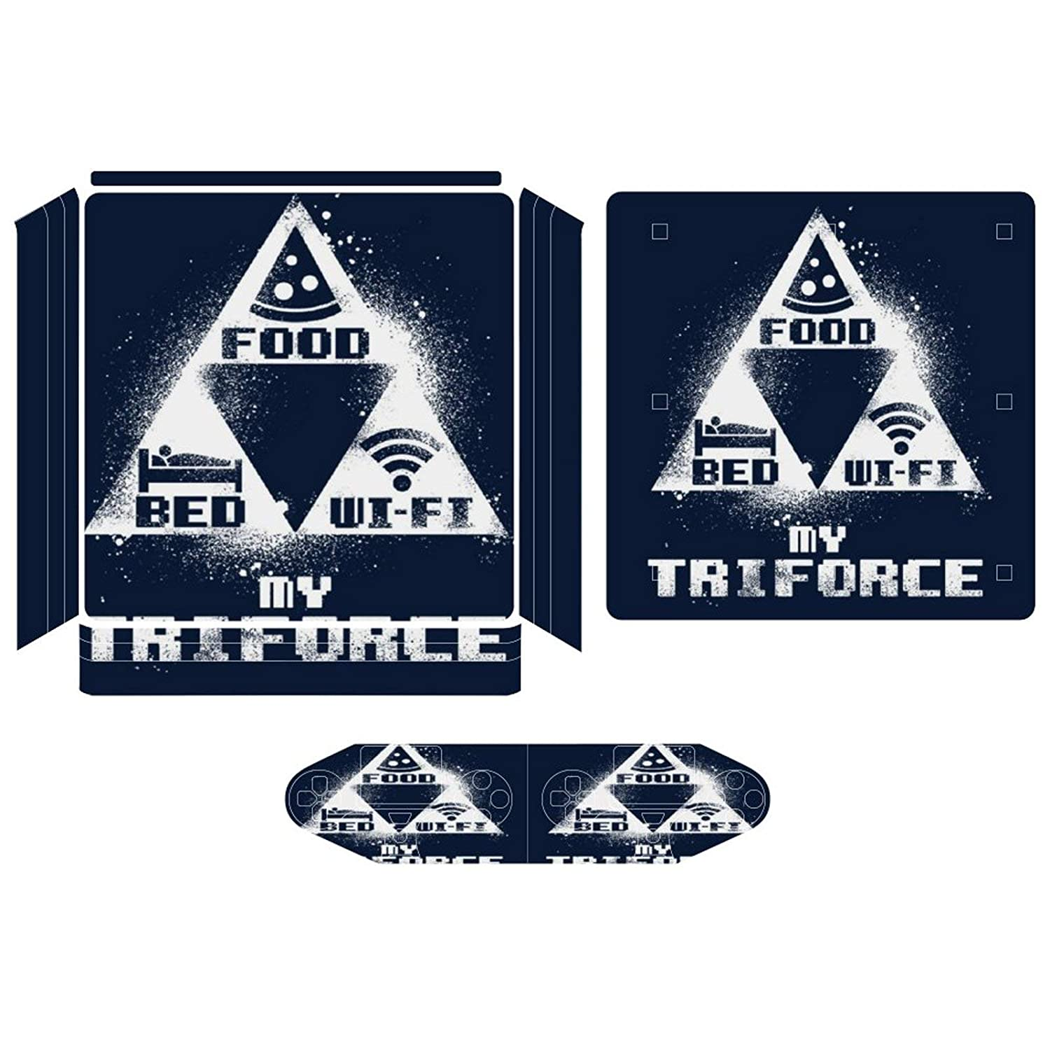 Triforce Food Bed Wifi Compatible with PS4 Slim controller and console skin sticker protective cover wireless/wired gamepad controller