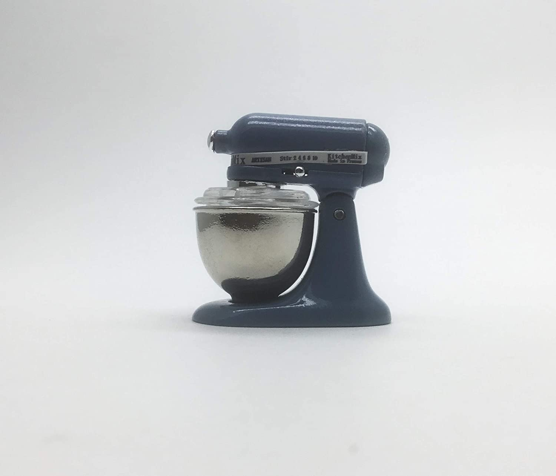 New ChangThai Vintage Deep Blue Bread Dough Mixer Machine Dollhouse Miniature