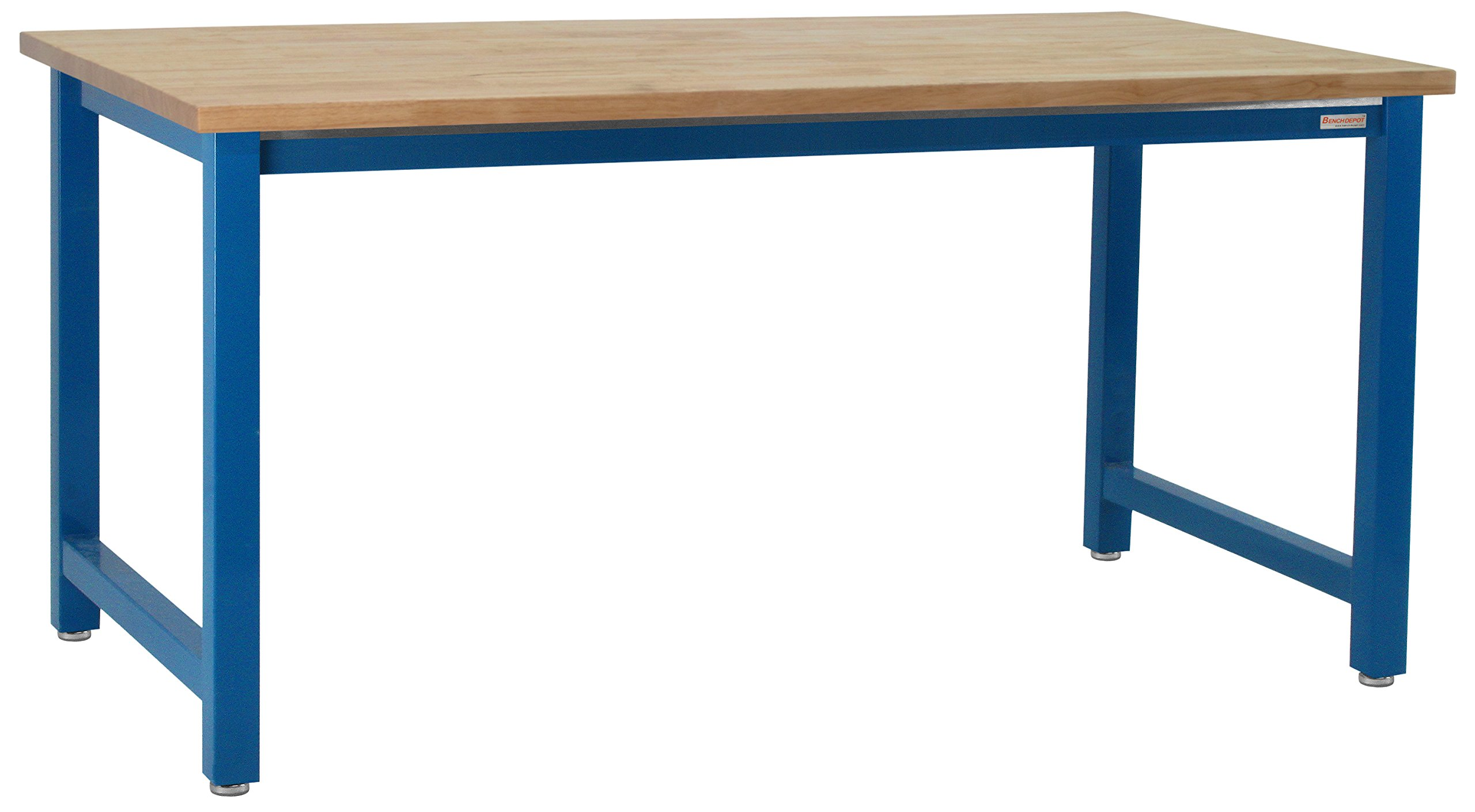 Kennedy Workbench with 1.75'' Solid Oiled Maple Butcher Block Top, 6,600 lbs Capacity, 24'' Depth x 36'' Width, 30'' Height