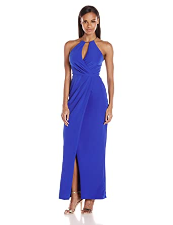 Amazon.com: JS Collection Women\'s Metal Halter Gown: Clothing