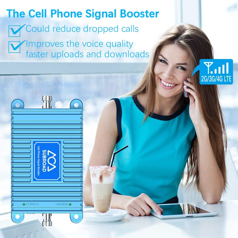1700//2100Mhz Mobile Cellular Repeater Boosts 4G Data and Volte for Multiple Users Up to 4,500Sq Ft Band 66 /& Band 4 Cell Phone Signal Booster for Home and Office With High Gain Panel//Yagi Antenna