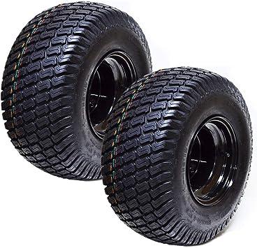 Amazon Com 2 18x8 50x8 Atv Golf Go Cart Lawn Mower Tractor P322 Turf Tire Rim Assembly Black Steel Wheels 18 All Terrain Tires Compatible With Ezgo Club Car Yamaha E Z Go Golf Cart Automotive