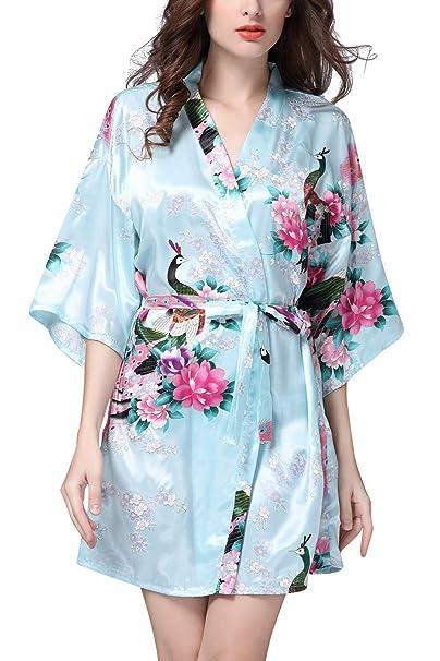 c5c9a522f00b YAOMEI Donna Kimono Vestaglia Pigiama Sleepwear