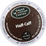 Green Mountain Coffee, Half-Caff, Single-Serve Keurig K-Cup Pods, Medium Roast Coffee, 48 Count (2 Boxes of 24 Pods)