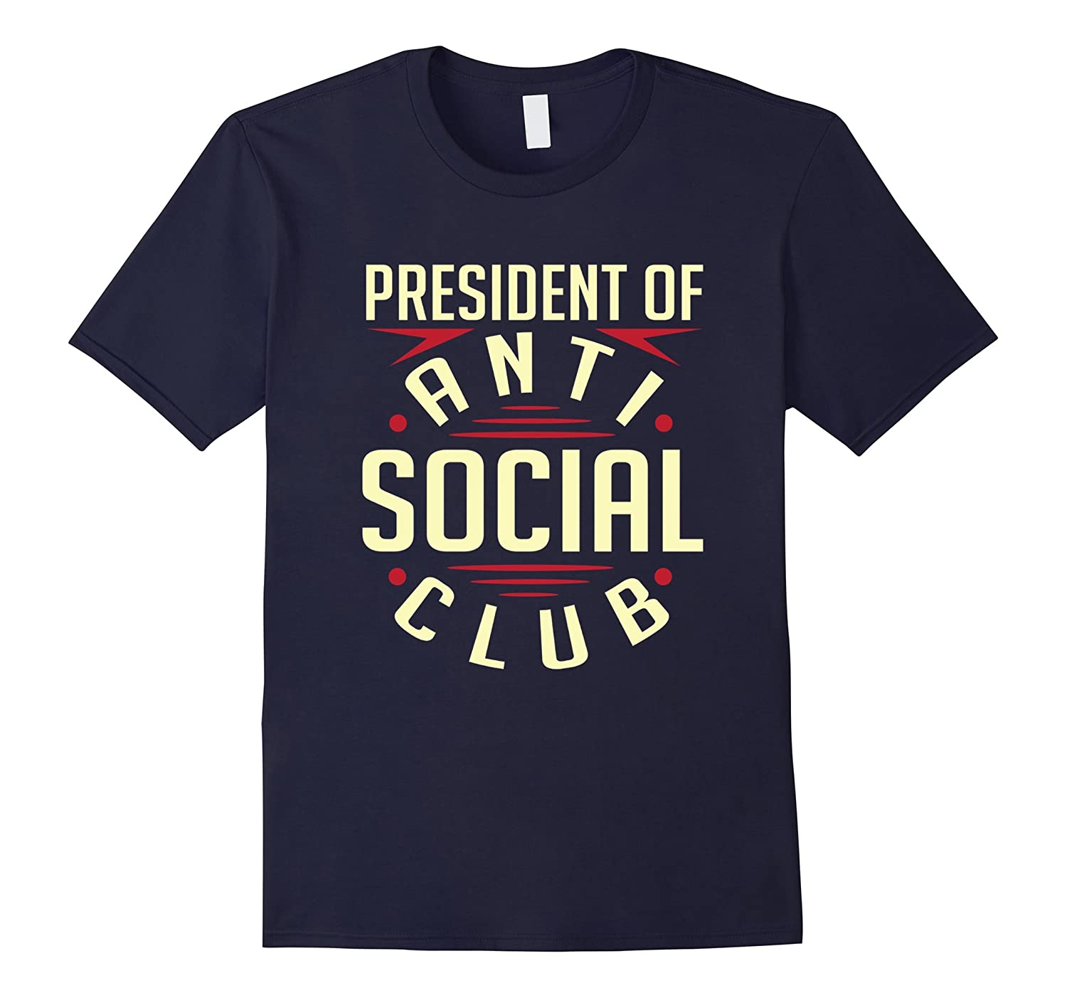 President Of Anti Social Club T-Shirt-Art