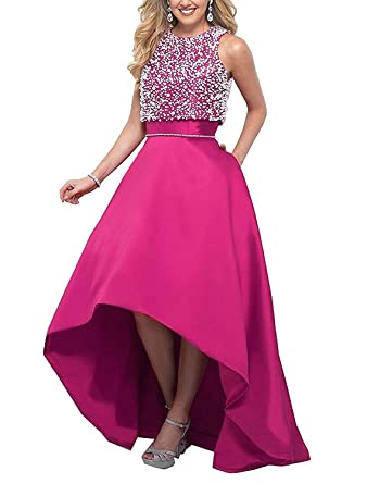 Angel Formal Dresses Womens Beaded Long Two Piece Prom Dress Ball Gown Bridesmaid Dresses(2