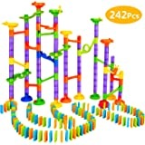 Elover Marble Run Toys 242 PCS Marble Run Coaster Railway Construction Child Building Blocks DIY Toys Games for Boys Girls Children over 3 Years Old