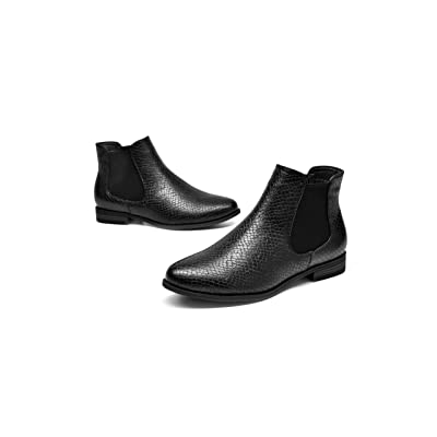 Womens Faux Leather Ankle Chelsea Boots Zipper Low Block Heel Slouch Booties