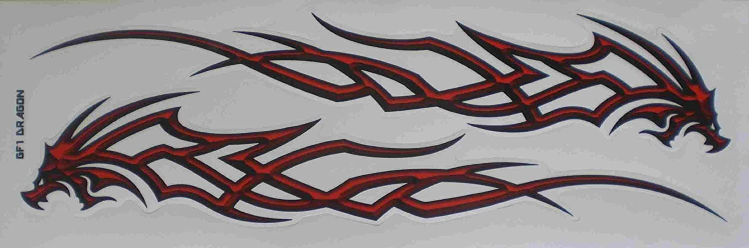 Feu de flammes GRANDS Tuning Racing Decal Sticker Fiche Dimensions: 53 x 17 cm pour voiture moto scooter ou un vé lo by soljo FL052