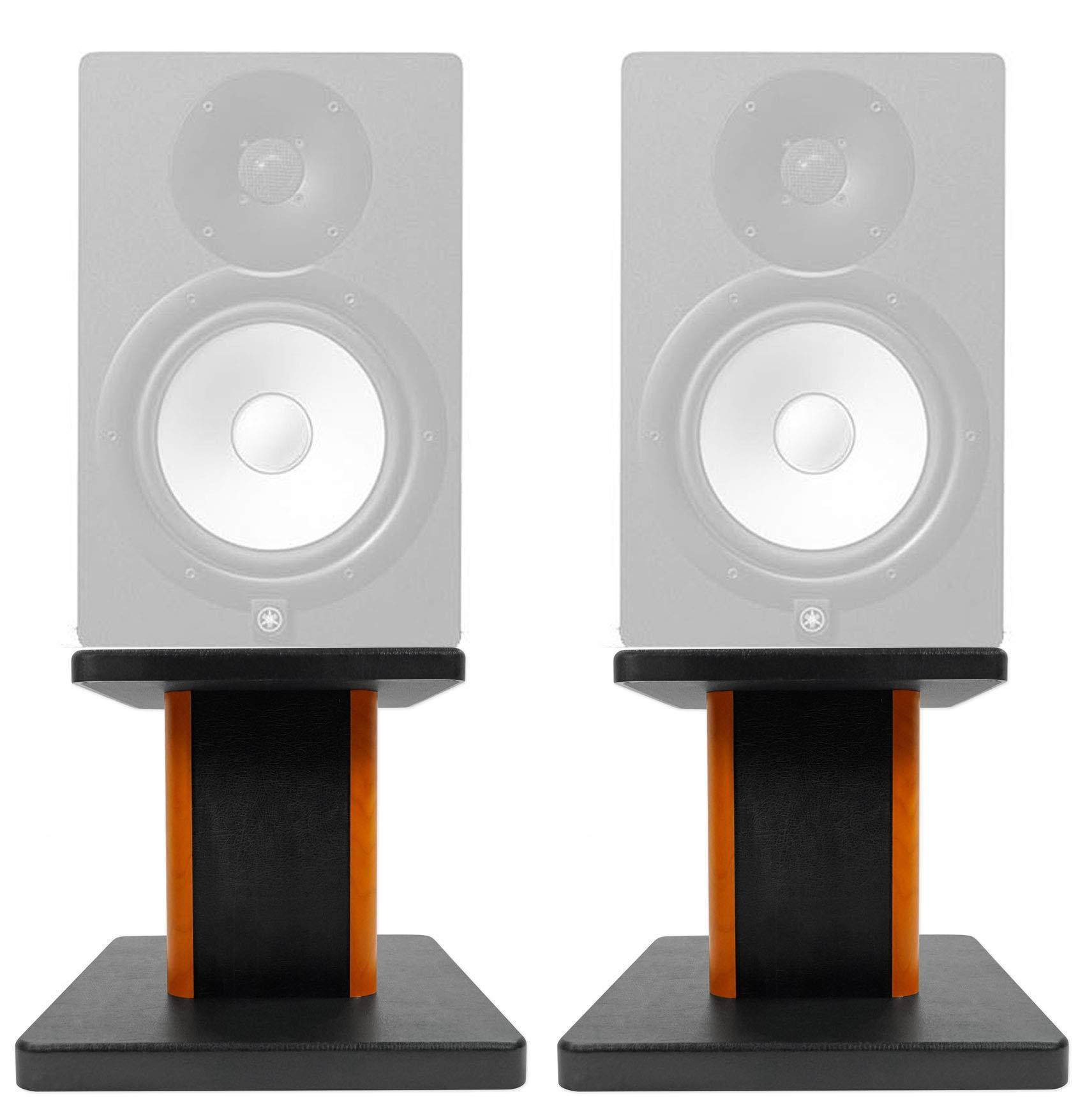 ROCKVILLE 8'' Wood Studio Monitor Speaker Stands for Yamaha HS5 Monitors by ROCKVILLE