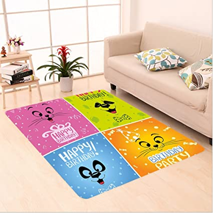 Amazon Com Nalahome Custom Carpet Thday Decorations For Kids