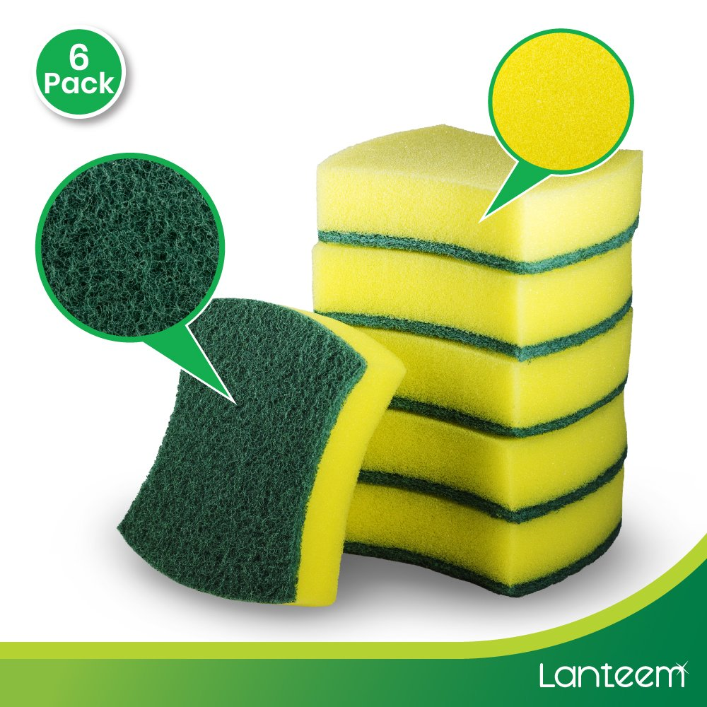 Crafts HL005 HL005-24 Scouring Pads With Sponge Kole Imports