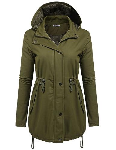 hotouch Mujer Chaqueta Parka Abrigo Cazadora de función abrigo de invierno resistente al viento con capucha