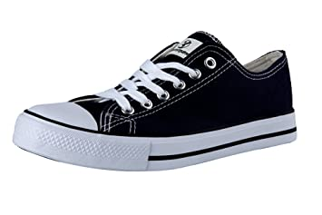 Shinmax Canvas shoes Unisex Low Cuts Canvas Season Lace Ups Shoes Casual Trainers for Men and Women B01MFZXYQR