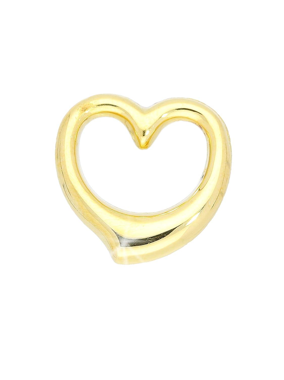 MyGold de corazón colgante (sin cadena) Oro Amarillo 333/585/750oro (8/14/18quilates) 13mm x 12mm Corazón Cadena Collar Verity Mod de 03921