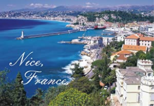 Nice, France, French Riviera, Mediterranean Sea, Beach, Souvenir Magnet 2 x 3 Photo Fridge Magnet