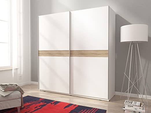 Mia 5 armario de puertas correderas en color blanco mate madera ...