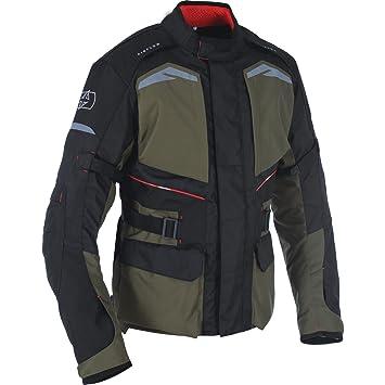 Oxford Quebec 1.0 para hombre textil impermeable chaqueta de Moto - ejército verde: Amazon.es: Coche y moto