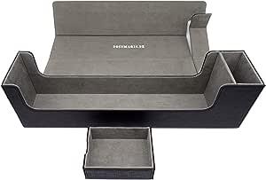 docsmagic.de Premium Magnetic Tray Long Box Black Large - Card Deck Storage - Caja Juegos Des Cartas Negra: Amazon.es: Juguetes y juegos