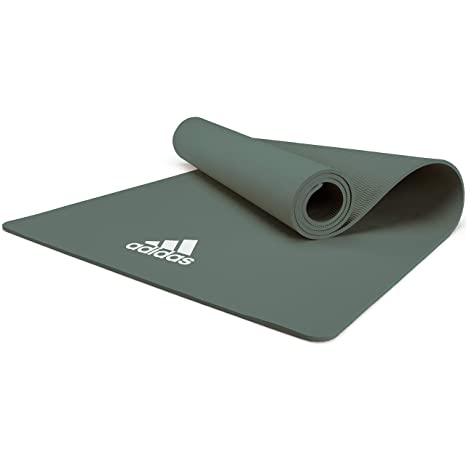 Amazon.com : adidas Yoga Mat - 8mm - Raw Green : Sports ...