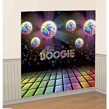 Déco Murale Années 70 Poster Disco Party 1,65 X 1,65 M Boule À