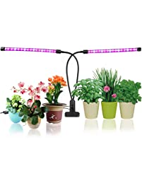 Plant Growing Lamps, LED Grow Lights Ticent 18W Dual Head Timing Light For  Indoor Plants