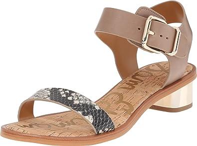 7503a9c96540 Sam Edelman Women s Trina Putty Shiny Burmese Python Print Vaquero Sandal   Amazon.co.uk  Shoes   Bags
